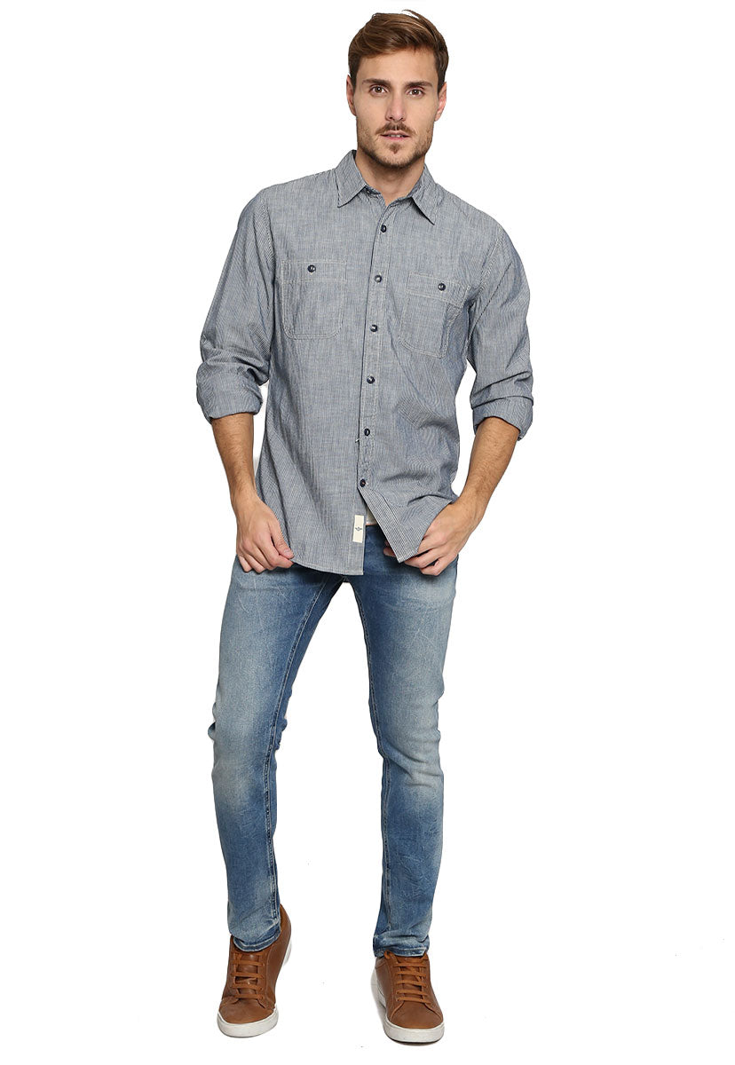 Camisa Slim Fit Azul - Dockers