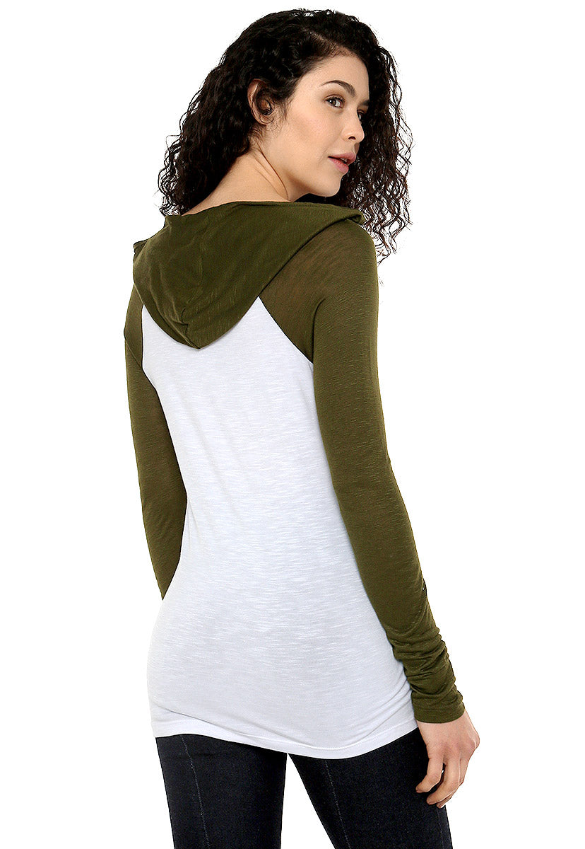 Blusa Blanca/Verde - Exchange Cafe