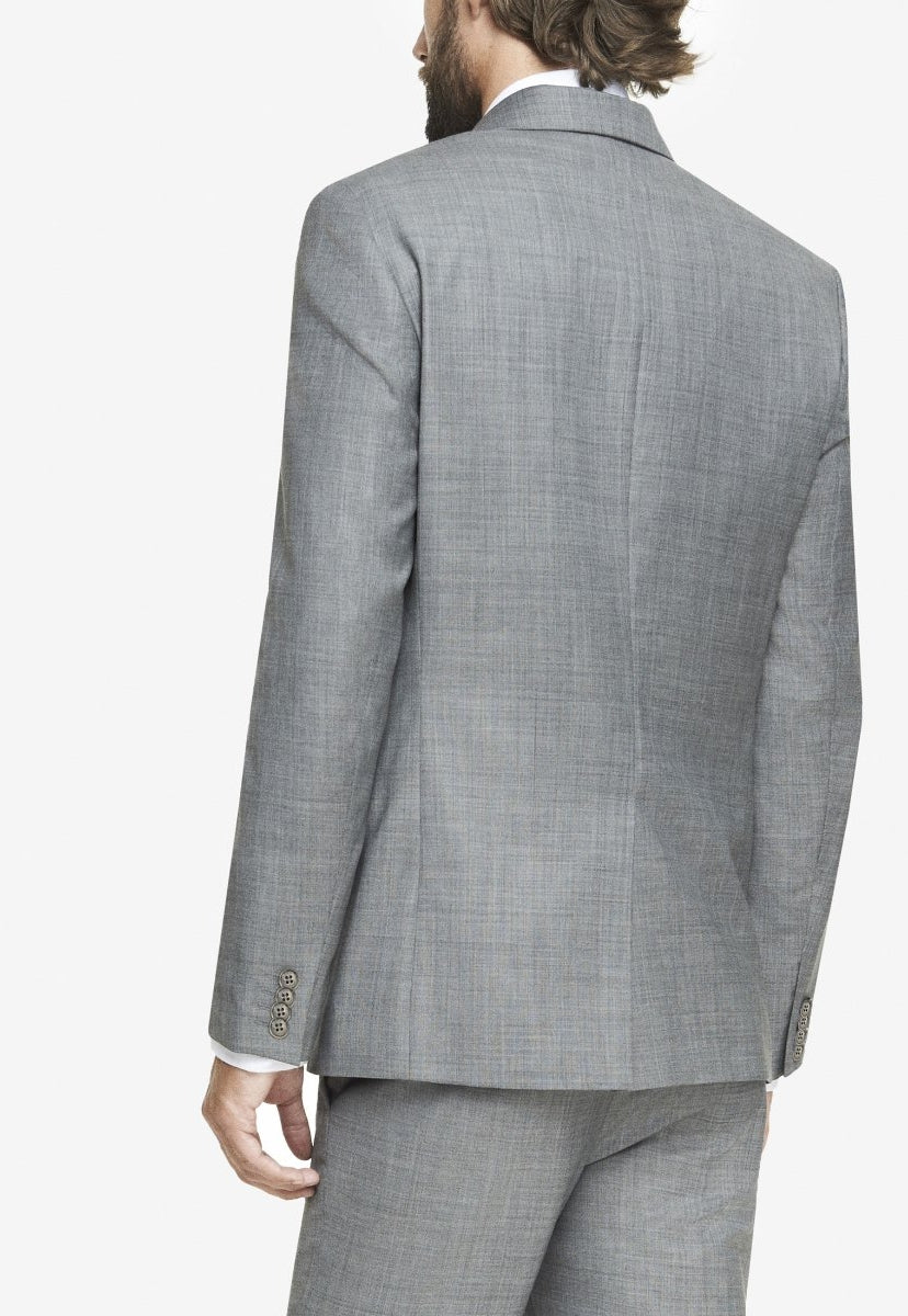 slim micro twill suit jacket - Express