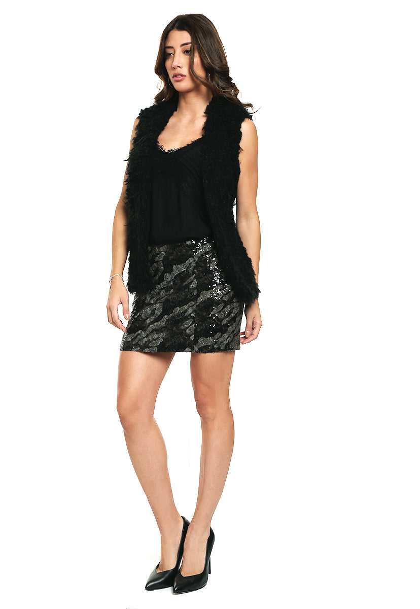 Falda Klara Sequin Skirt - Guess