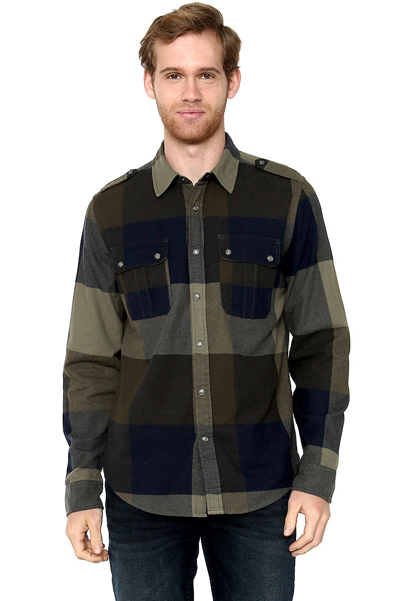 Ls Reed Plaid Shirt - Guess