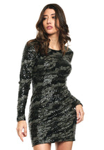 Vestido Ls Klara Sequin Dress
