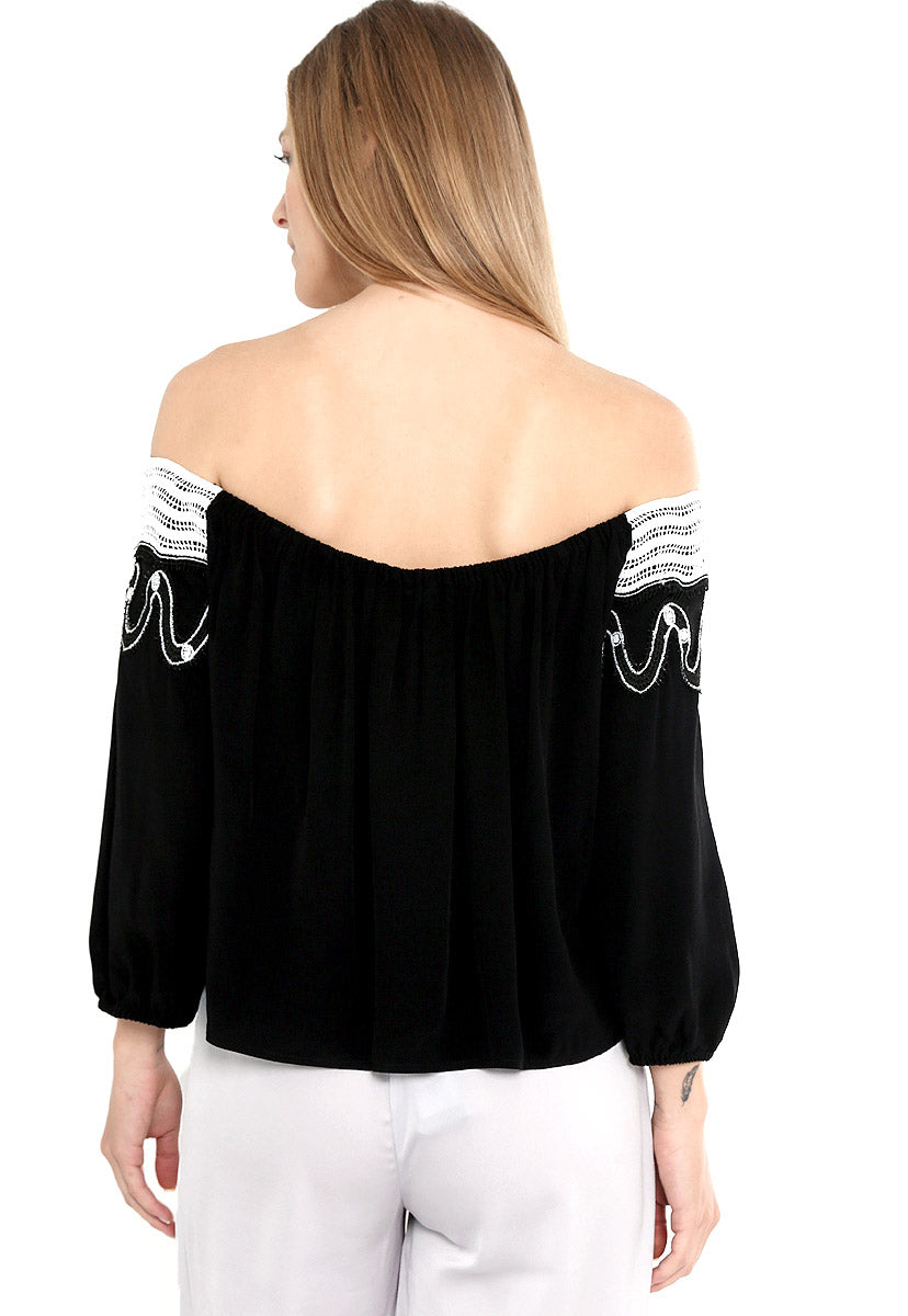 Blusa Off Shoulder Negro