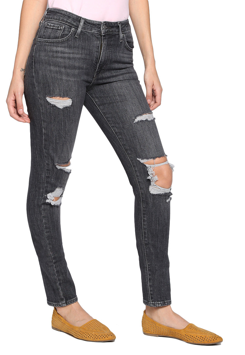 Jeans High Rise Skinny Gris - Levis