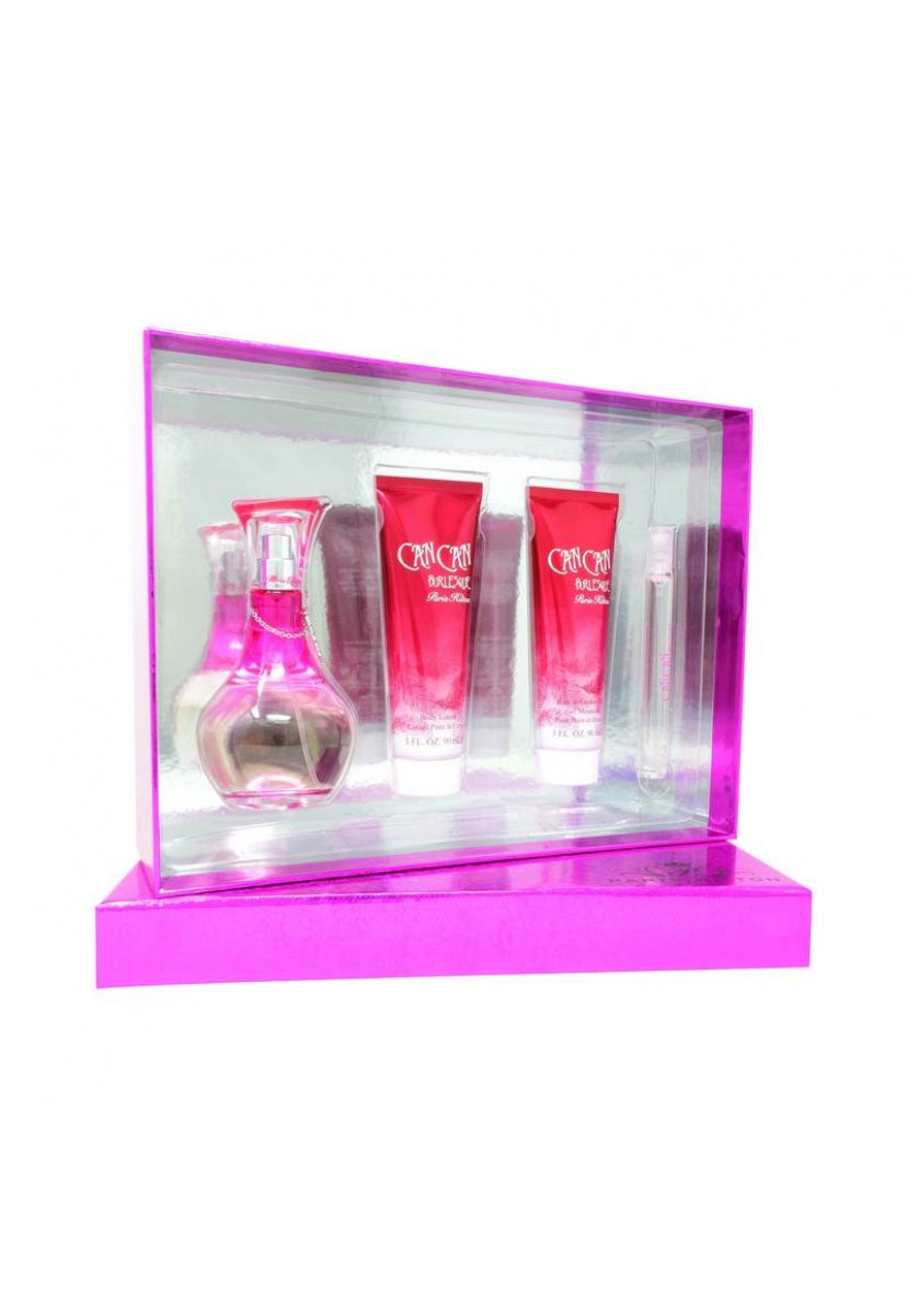 Z4 Set Can Can Burlesque 4Pzs 100Ml Edp Spray/ Shower Gel 90Ml/ Body Lotion 90Ml/ 10Ml Edp Spray - Paris Hilton