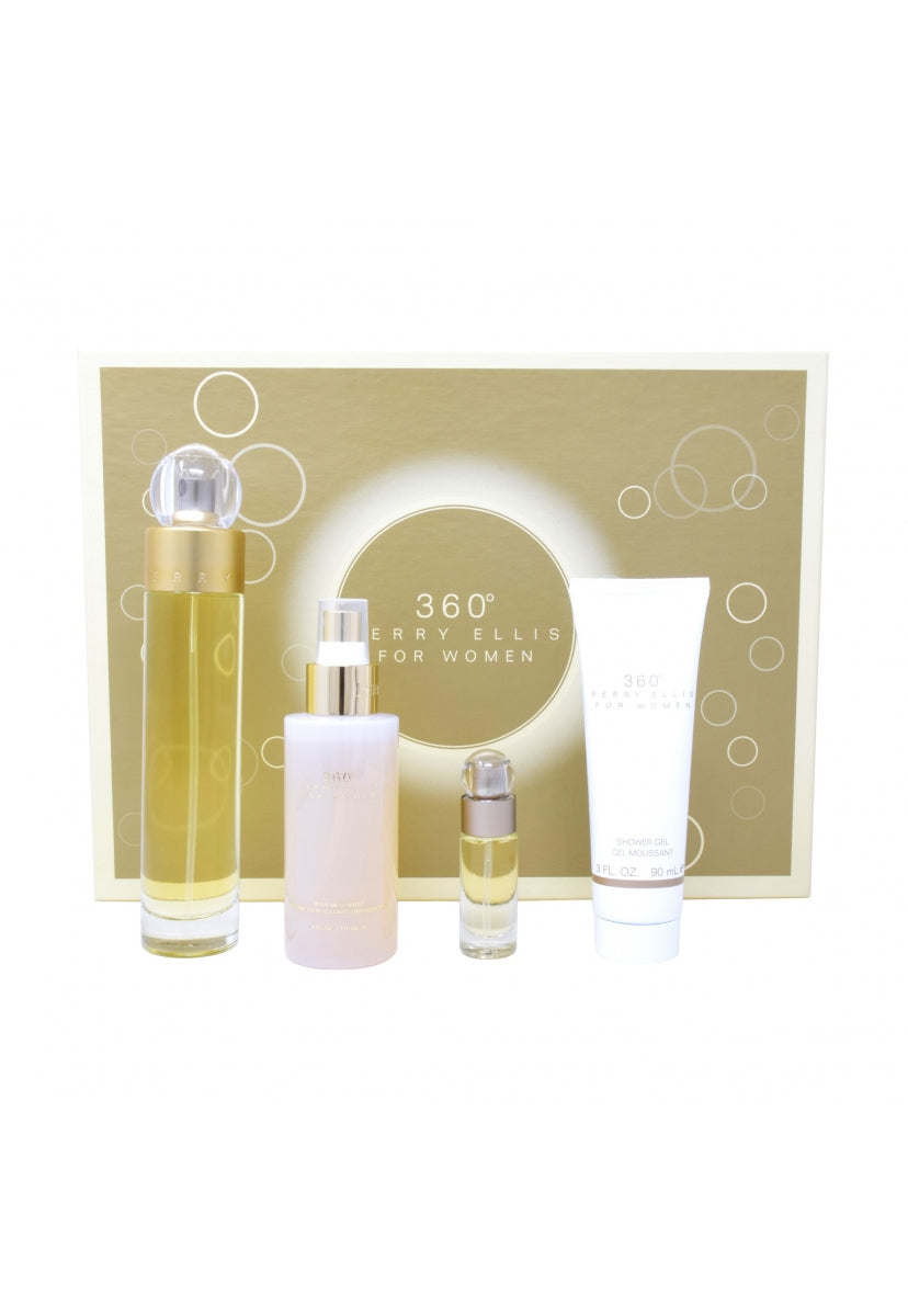 Z4 Set 360° 4Pzs 100Ml Edt Spray/ Shower Gel 90Ml/ Body Mist 118Ml Spray/ 7.5Ml Edt Spray - Perry Ellis