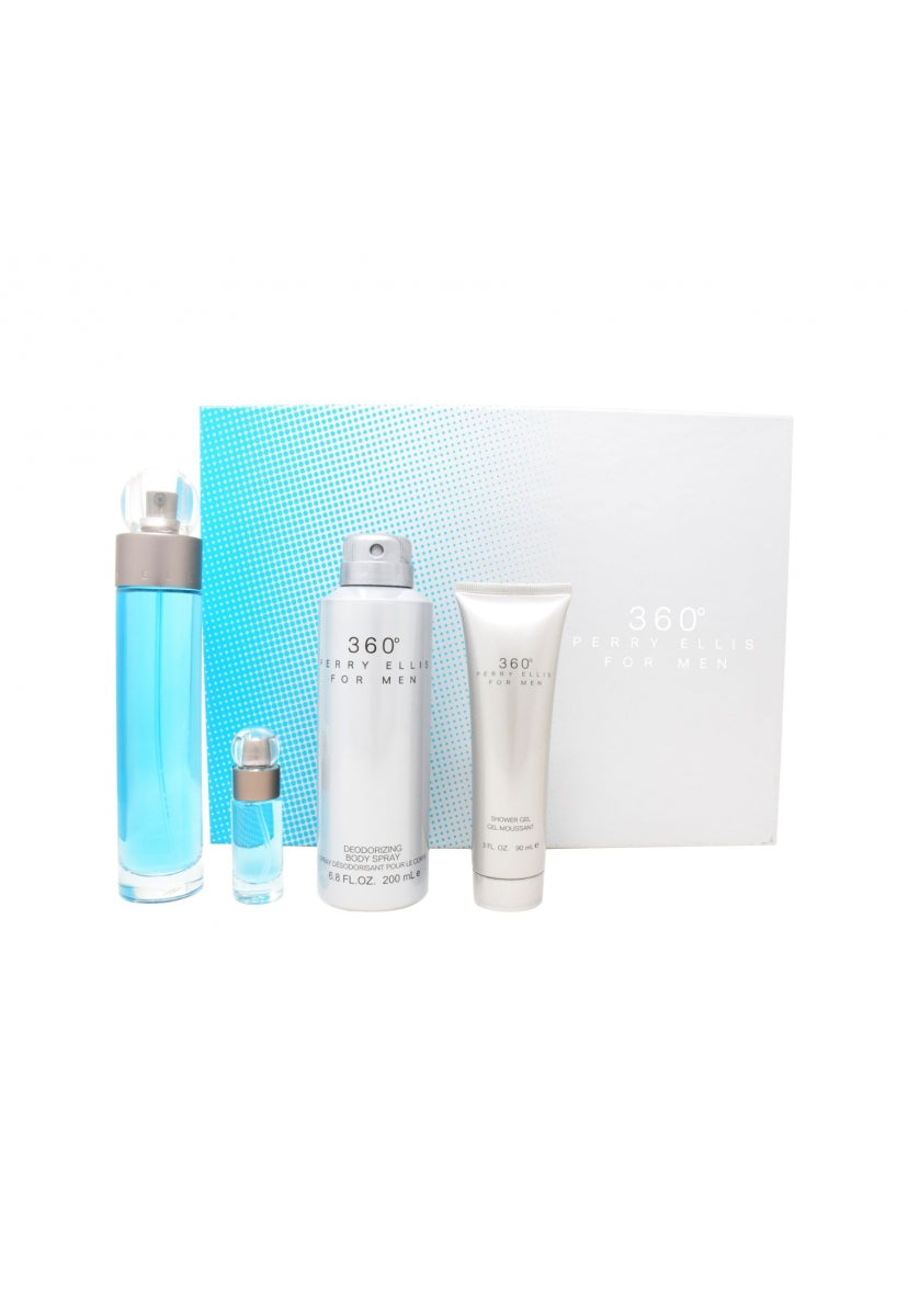 Z4 Set 360° 4Pzs 100Ml Edt Spray/Shower Gel 90Ml/ Desodorante 200Ml/ Edt 7.5Ml - Perry Ellis