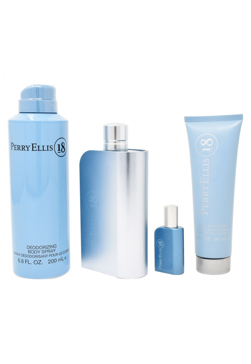 Z4 Set Perry Ellis 18 4Pzs 100Ml Edt Spray/ Shower Gel 90Ml/ Desodorante 200Ml Spray/ 7.5Ml Edt Spray - Perry Ellis
