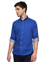 Camisa Regular Fit Azul