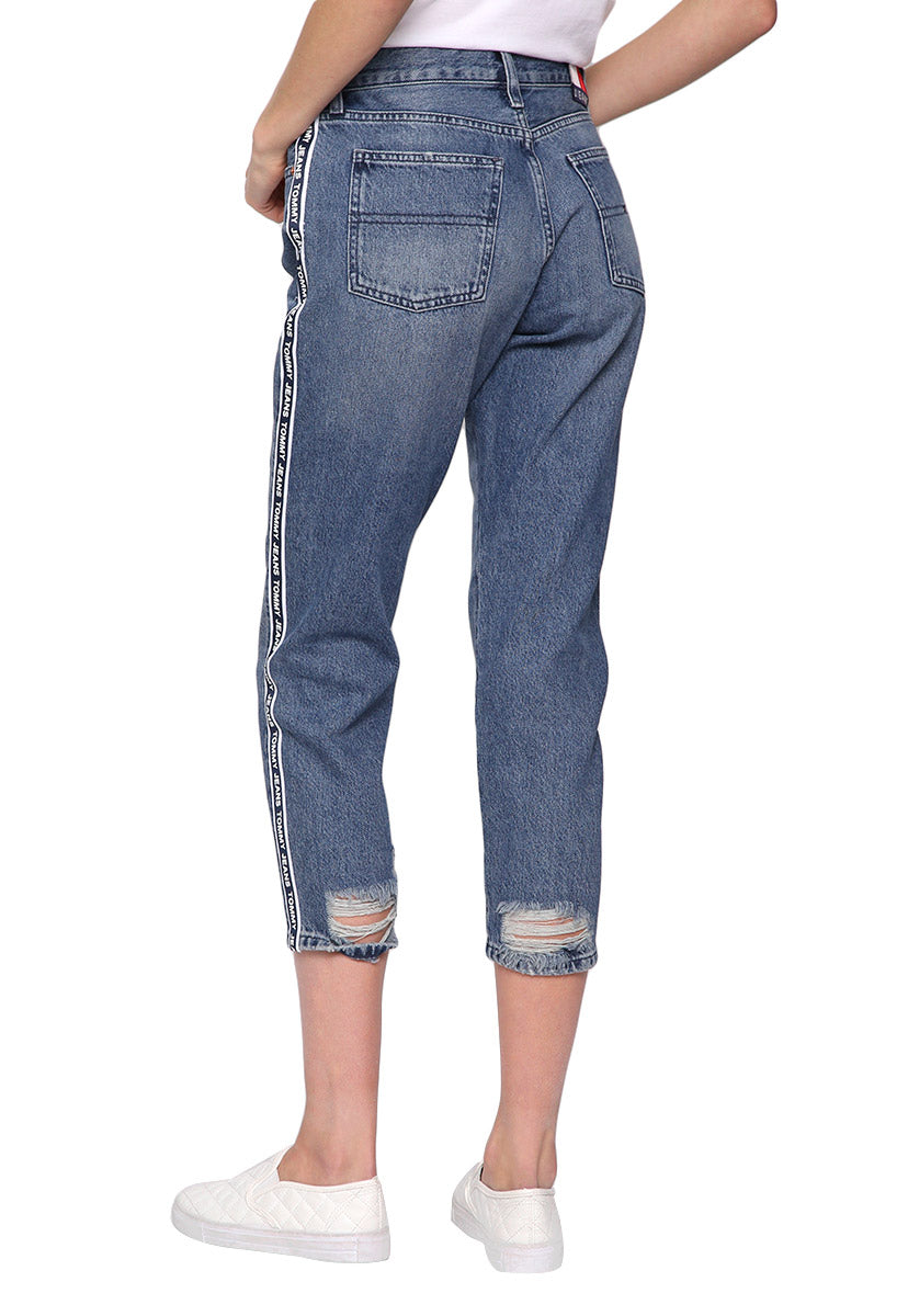 Jeans Azul Marino High Rise Slim Cropped Izzy - Tommy Hilfiger