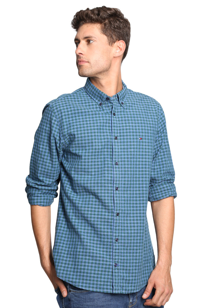 Camisa a cuadros Verde Obscuro - Tommy Hilfiger