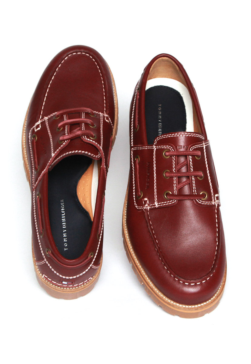 CLASSIC LEATHER BOATSHOE - Tommy Hilfiger