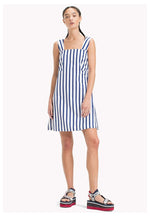 TJW BOW DETAIL STRIPE DRESS