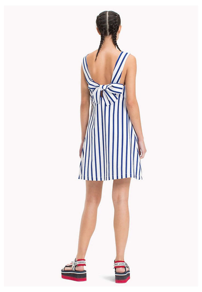 TJW BOW DETAIL STRIPE DRESS - Tommy Jeans