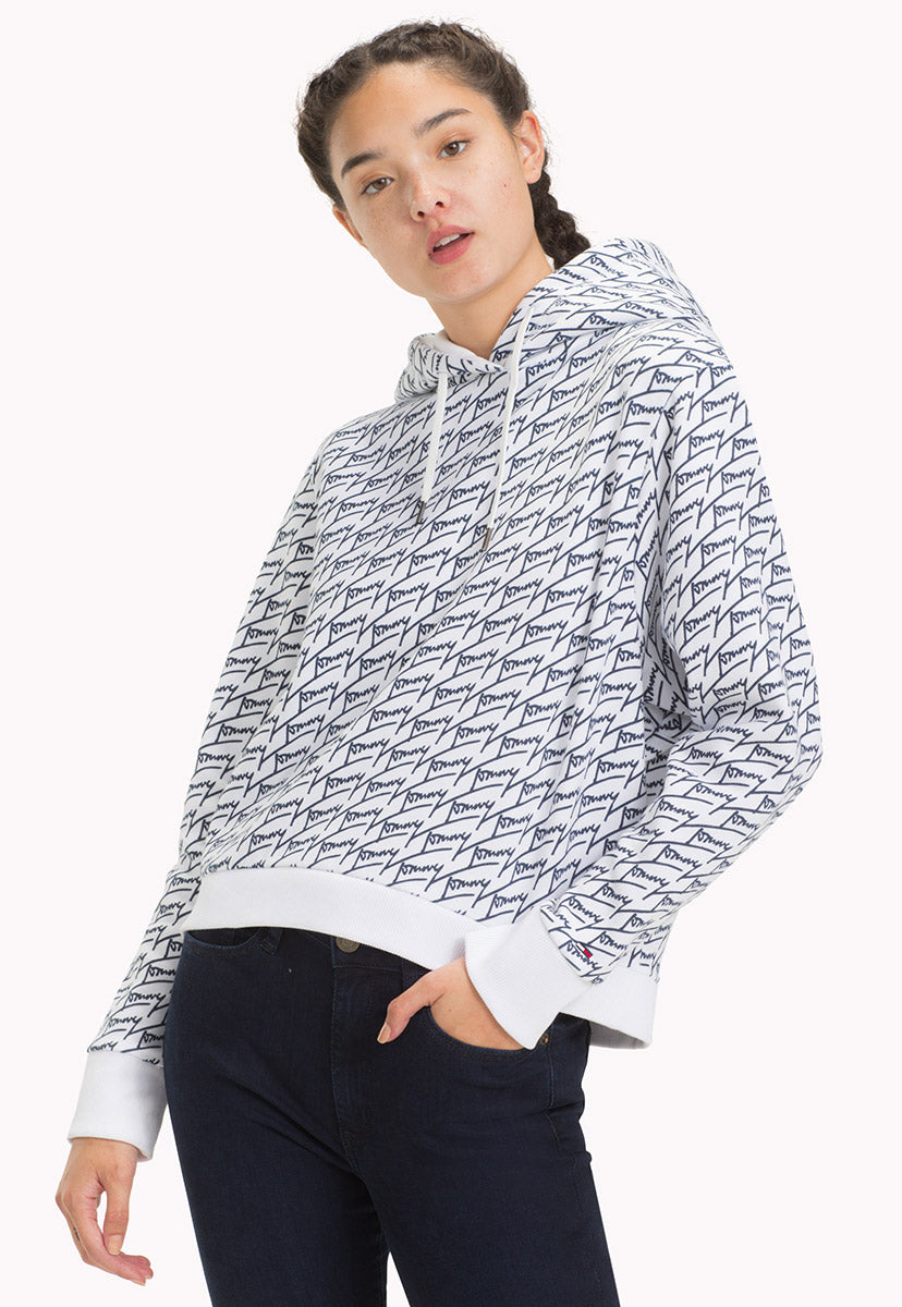 TJW AOP SIGNATURE HOODIE - Tommy Jeans