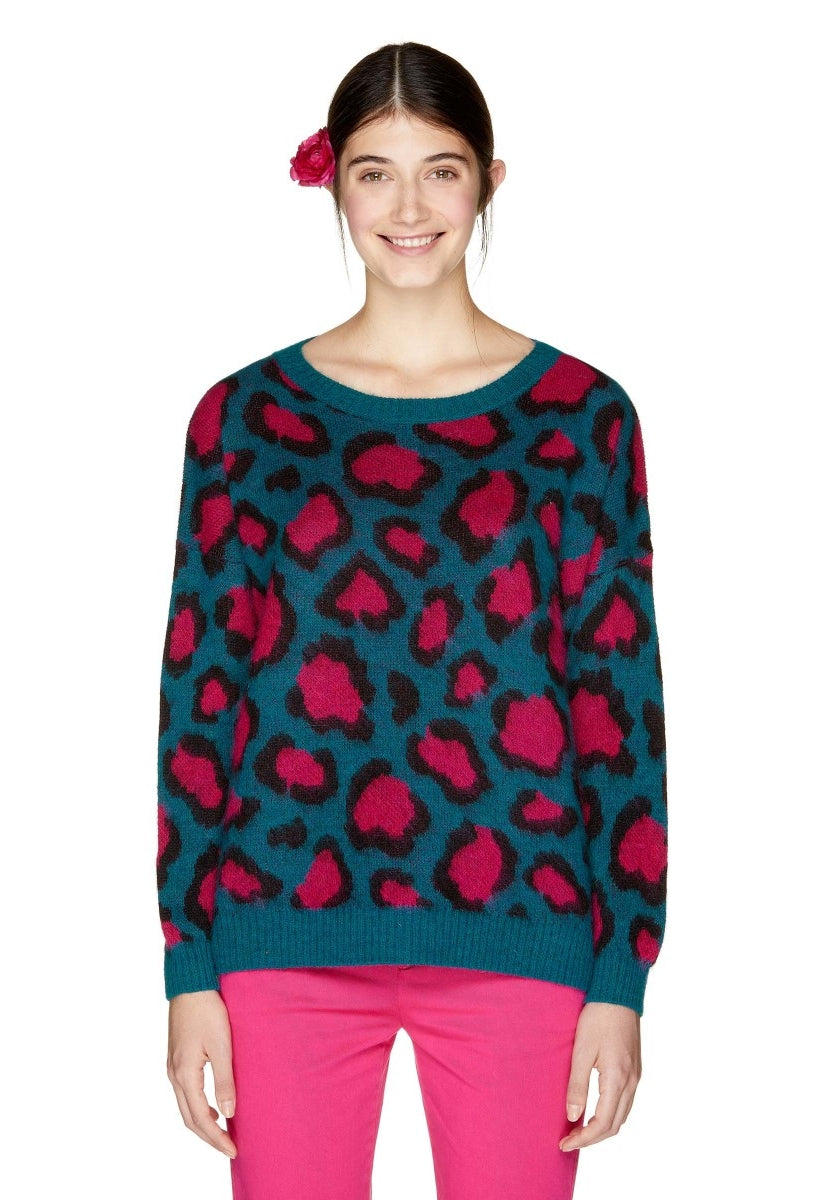 Jersey suave con estampado animal print - United Colors Of Benetton