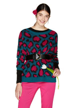 Jersey suave con estampado animal print