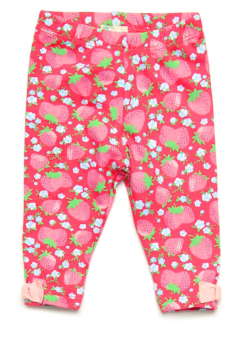 "Leggings Rojo ""Fresas - United Colors Of Benetton"