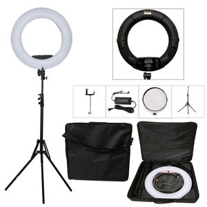 Professional LED Light Ring Setup - Ementer