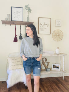 Nevin Darkwash Distressed Shorts