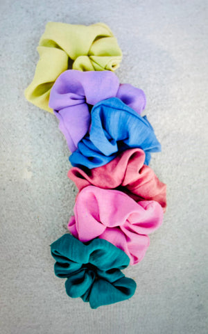 Evie Satin Scrunchies