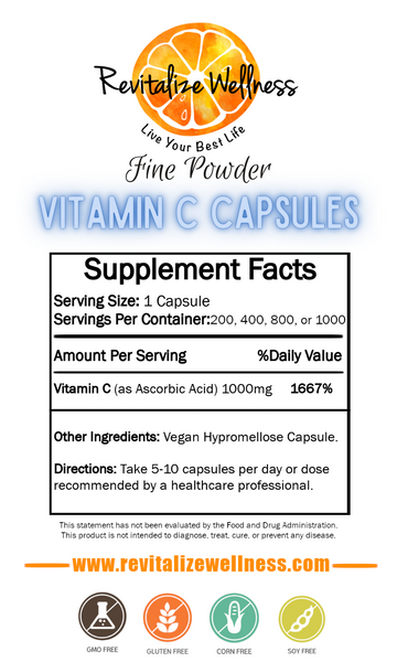 fine powder vitamin c capsules gentle on the stomach