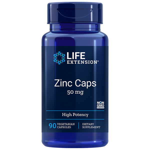 Life Extension Zinc - 50mg - 90 Vegetarian Capsules