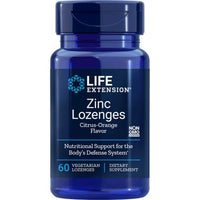 Life Extension Zinc Lozenges Citrus-Orange Flavor - 60 Count