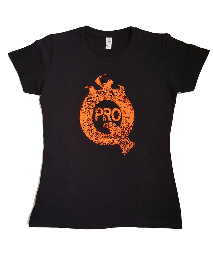 ProQ Distressed Print T-Shirt - Front - Ladies