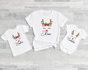 Custom Name Reindeer Shirt ADULT