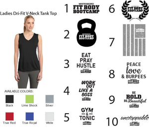 Ladies Dri-Fit V-Neck Tank Top
