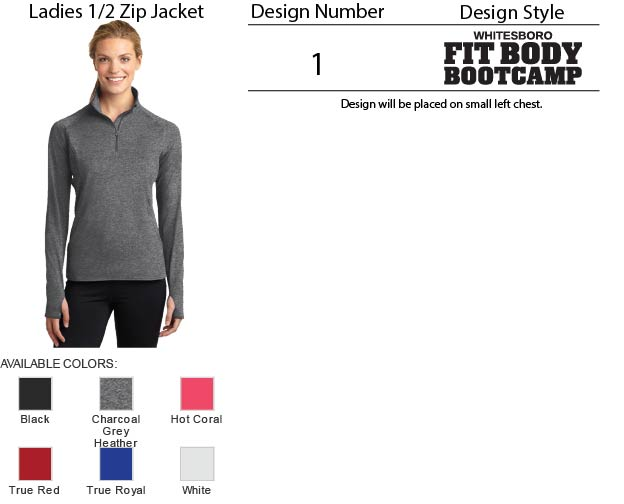 Ladies 1/2 Zip Jacket