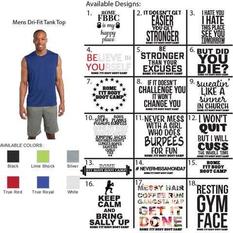 Mens Dri-Fit Tank Top