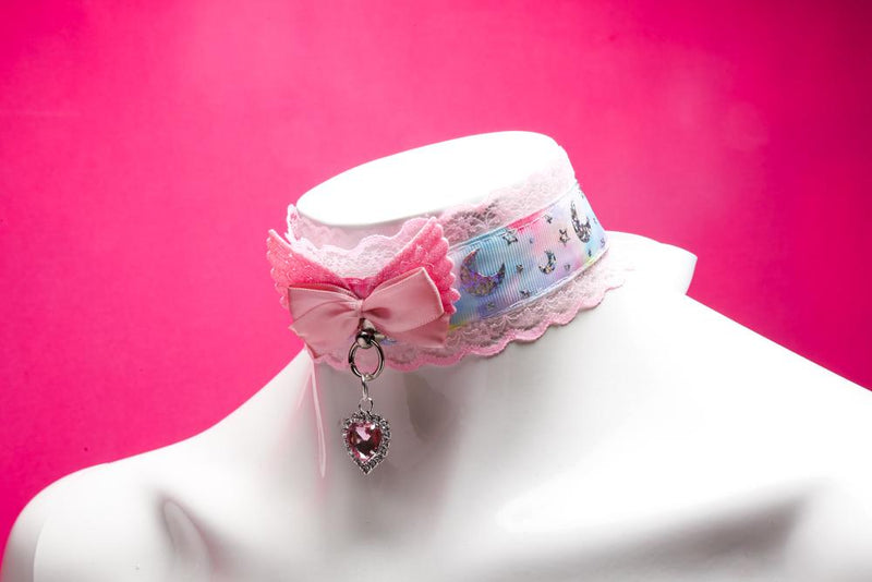 Pink Pastel Moon Magic Collar