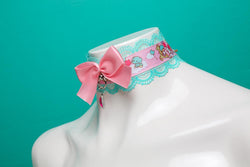 Mint and Pink Little Twin Stars Collar