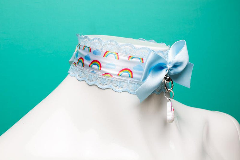 Rainbow and Blue Lace Collar
