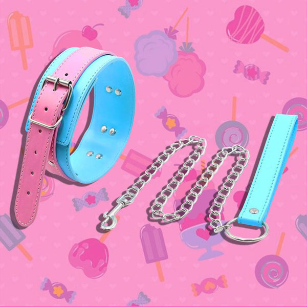 Cotton Candy Collar and Leash Set