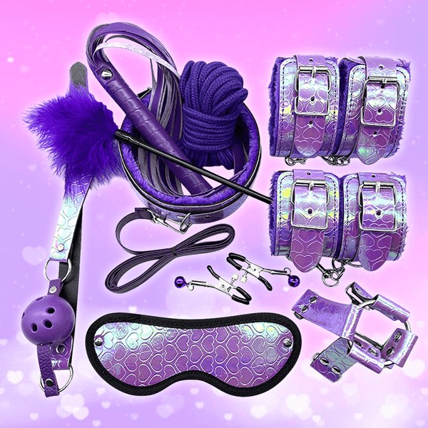 Holographic Hearts Beginner's Bondage Set