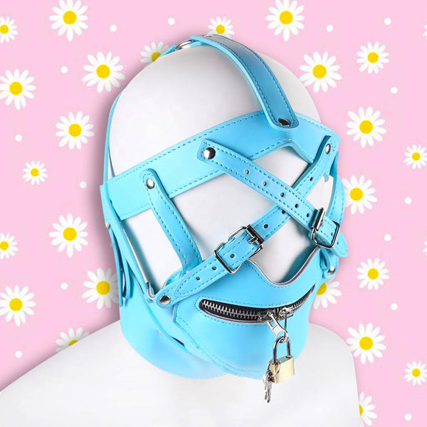 Rated X Head Harness w/ Muzzle - Baby Blue