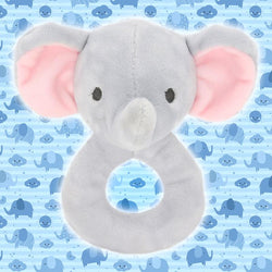 Elephant Plush Rattle