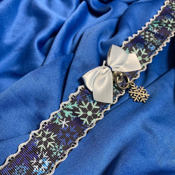 Dark Blue Snowflake Collar