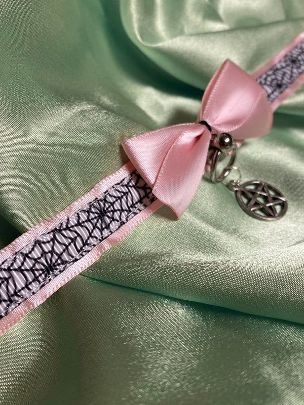 Pink Spiderweb Collar