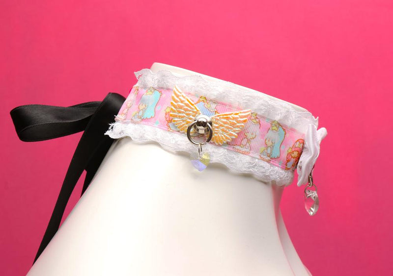 White Lace Little Twin Stars Angel Luxury Collar