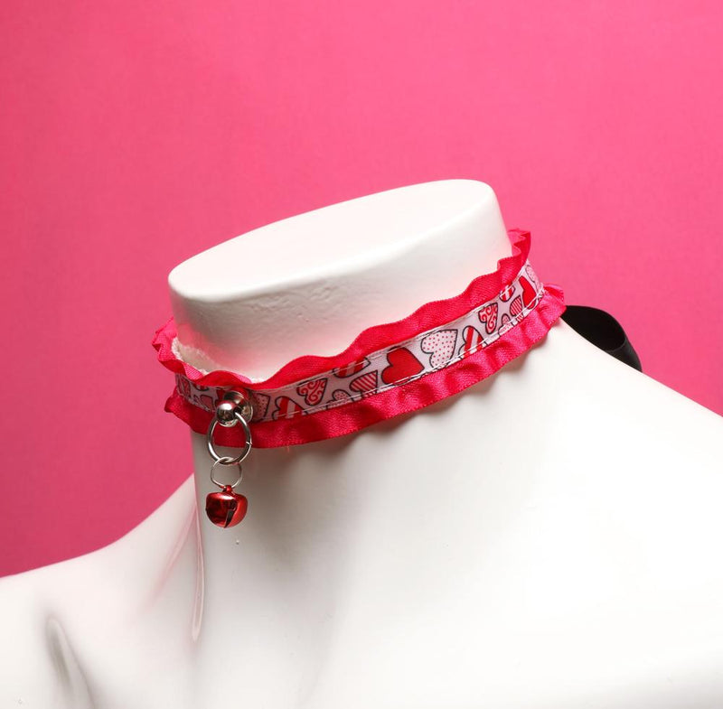 Hot Pink Heart Collar