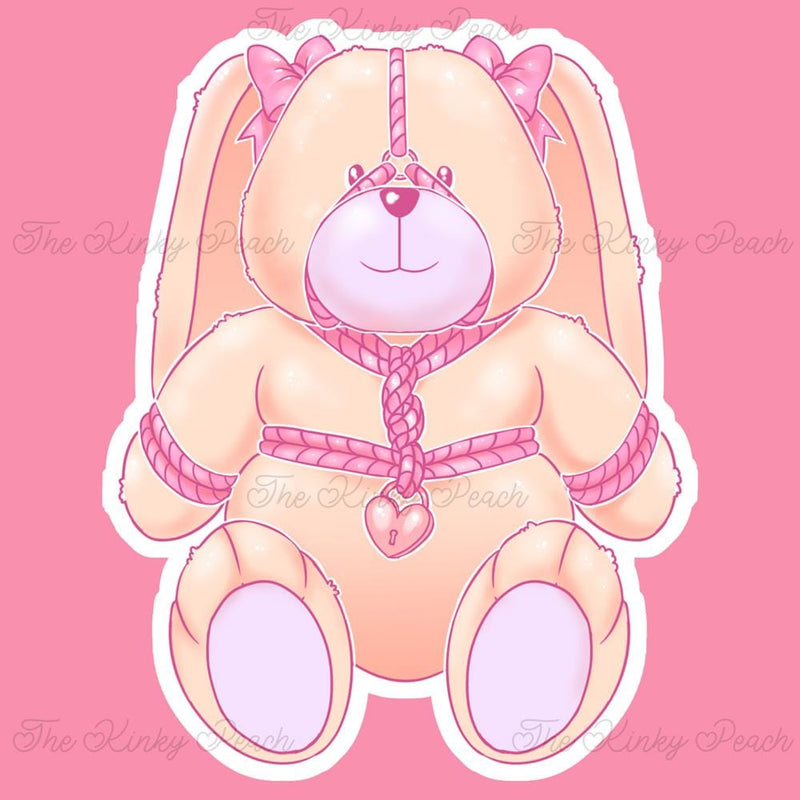 Bella the Beige Rope Bunny Sticker