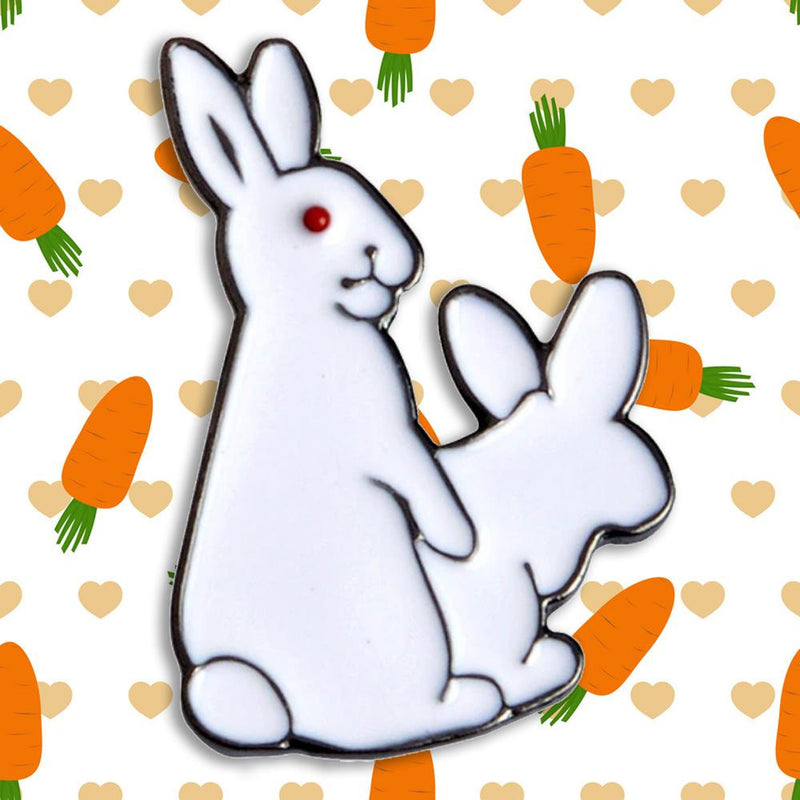 Fucking like Bunnies Pin