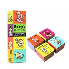 Load image into Gallery viewer, Baby's Book Tower (Set of 4 Mini Board Books)