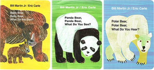 Eric Carle Baby Bear What Do You Hear Board Books Set A (Set of 3)