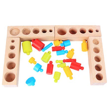 Load image into Gallery viewer, [Ready Stock] Montessori Knobbed Colourful Cylinders