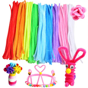 [Ready Stock] Pipe Cleaners (Blue, Pink, Yellow, Light and Dark Green, Orange)